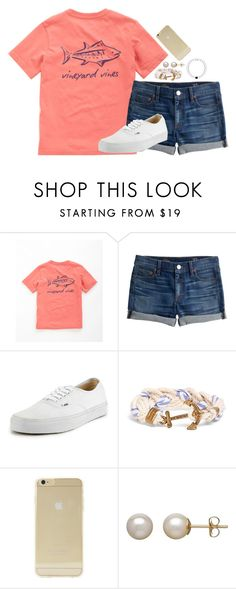 """""""I'm ready for summer already ☀️"""" by ebonysmith24 ❤ liked on Polyvore featuring Vineyard Vines, J.Crew, Vans, Brooks Brothers, Sonix and Honora"""