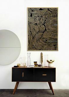 Veľký obraz Abstract Gold. Obraz je zaujímavý svojim prevedením a zobrazením. Základ je maliarské bavlnené plátno na drevenom ráme v rozmere až 142x102cm. Tento obraz je vyhotovený vo farebnom prevedení so zlatavým okrajom. Môžete ho jednoducho zavesiť na stenu na výšku ale aj na šírku ako sa vám bude vzor páčiť.  Rozmery obrazu: 142 cm x 102 cm x 4,5 cm Materiál: rám z masívneho dreva, bavlnené plátno Bloomsbury, Vanity, Marketing, Abstract, Gold, Framed Art Prints, Dekoration, Dressing Tables, Summary
