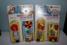 Vintage-1976-RAGGEDY-ANN-ANDY-Doll-Play-Set-Lemonade-Fishing-Sealed-in-Package