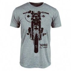 b803fefebe Buy Mens Norton Motorcycle Commando T Shirt Grey online from Honcho-SFX.