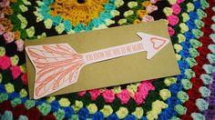 Blackbird Letterpress Love Arrow Card