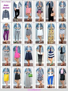 Outfit Posts Blue Jean Jacket, Blue Denim Jacket Outfit, Jean Shirt Outfits, Striped Skirt Outfit, Daily Outfit, How To Wear Blazers, Mustard Cardigan, Denim Jackets, Jean Jackets