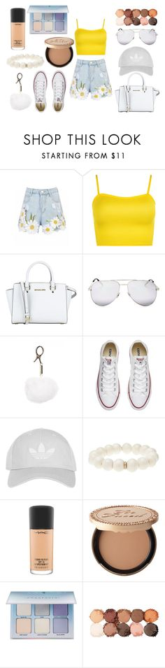 """Yellow Delight"" by sarahb-17 ❤ liked on Polyvore featuring WearAll, MICHAEL Michael Kors, Yves Saint Laurent, Converse, Topshop, Ocnarf Sairutsa, MAC Cosmetics, Too Faced Cosmetics, Anastasia Beverly Hills and NYX"