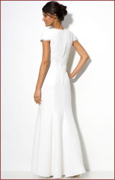 white long dresses women | JS Collections Lace Trim Long White Dress | Long Dresses