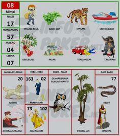 08 Maling Kecil, buku mimpi bergambar Map, Location Map, Maps