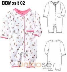 Resultado de imagen para moldes de ropa de bebe recien nacido gratis