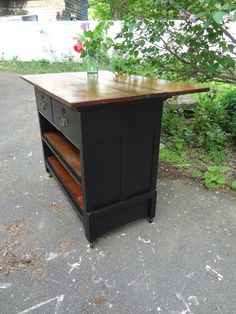 Heir and Space: A Rustic Schoolhouse Style Kitchen Island
