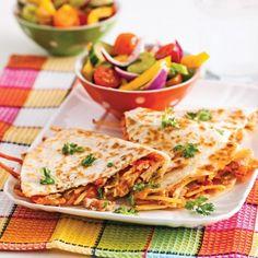 Quesadillas au thon - Soupers de semaine - Recettes 5-15 - Recettes express 5/15 - Pratico Pratique