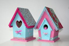 Arts And Crafts Projects, Wood Projects, Fun Crafts, Bird Cages, Bird Feeders, Bird Houses Painted, Little Houses, Pet Birds, Easter Eggs