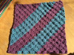 "C2C crochet in grape and sage Stylecraft DK. 12"". Vintage colours for kinship blanket"