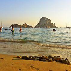 @simonshenker | Sunny Day @ Cala d'Hort ... #ibiza #esvedra