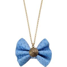 VANGLE Necklace ($128) ❤ liked on Polyvore featuring jewelry, necklaces, accessories, colares, collier, sky blue, snake print choker, bow choker, bow choker necklace and blue sky jewelry