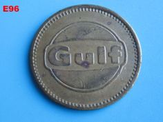 VINTAGE GULF OIL GAS SERVICE STATION FREE CAR WASH TOKEN BRASS COIN RARE PIECE!!!!  ON AUCTION THIS WEEK!!!!!