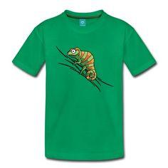 Das Chamäleon für alle Chamäleon-Fans. Etwas farbiger hebt sich besonders toll von grünen Untergründen ab - frech klammert es sich an Deinem Shirt fest. Das Motiv wird mit Digitaldruck gedruckt.