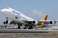 Air Pacific - Fiji B 747 - 400 at LAX @ samchuiphotos. com