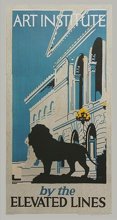 Tourism posters for 1920s Chicago