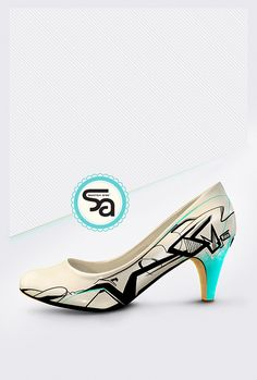 Heel shoes painting - Posca and spray-bombing Fab Shoes, Shoes Heels, Posca, Color Psychology, Pen Art, Kids Store, Doodle Drawings, Painted Shoes, Art Director