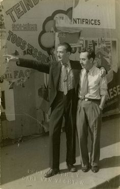 Salvador Dali and Man Ray, as photographed by Carl Van Vechten in 1934.