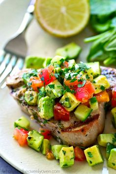 Tuna Steaks Recipe on Pinterest | Grilled Tuna Steaks, Grilled Tuna ...