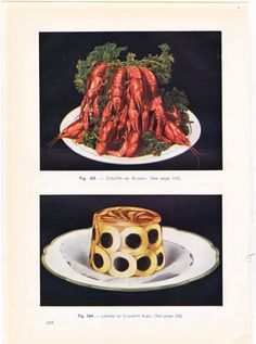 Vintage print from a 1950's French cookbook #culinaryhistory #frenchcuisine #vintagefood