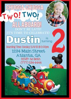 Mickey Mouse Train Birthday Party by SweetSimplySouthern on Etsy