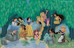 Disney Princesses by Meg Brennan