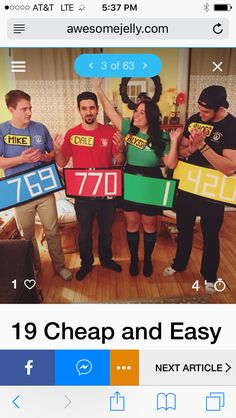 Hallowen Costume Couples 19 Cheap and Easy DIY Group Costumes for Halloween Halloween Costumes For Work, Easy Diy Costumes, Looks Halloween, Fete Halloween, Halloween Costume Contest, Halloween Office, The Office Costumes, Easy Couples Costumes, Cheap Costume Ideas