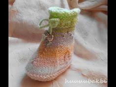 PATEN BOT PATİK,knit baby booties