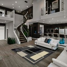 House Interior Design Ideas - Home Design Dream Home Design, Modern House Design, Modern Interior Design, Contemporary Interior, Modern Living Room Design, Interior Ideas, Modern White Living Room, Kitchen Contemporary, Simple Interior