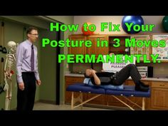 """""""Famous"""" Physical Therapists Bob Schrupp and Brad Heineck present How To Fix Your Posture In 3 Moves (Permanently). ***Update*** The Bob & Brad Workout Wall . Better Posture Exercises, Balance Exercises, Neck Exercises, Fix Your Posture, Perfect Posture, Workout Memes, Posture Correction, Physical Therapist, Shoulder Workout"""
