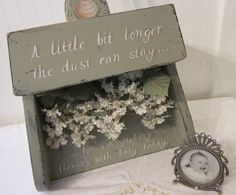 vintage inspired Dust Pan, Shabby Wood, Hand Painted Roses, Quotation, Original Art by Donna Atkins, green, pink, creamy white cottage decor on Etsy, $48.00