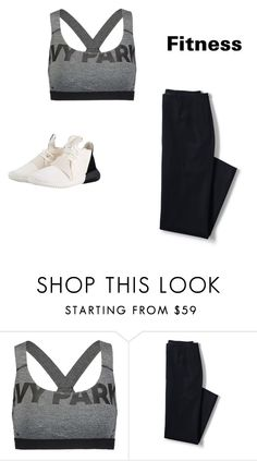 """""""Training Outfit"""" by mrsgomez-343 on Polyvore featuring Ivy Park, Lands' End, adidas Originals, fitness and running"""