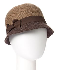 Look at this Downtown Style Brown Two-Tone Marled Wool-Blend Cloche on #zulily today!
