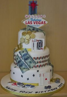 Edible Art Of The Day Winner For Saturday August 24 Jackie Baker 3 Tier Las Vegas CakeAdult Birthday CakesAugust