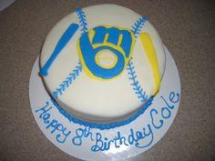 Milwaukee Brewers Birthday Cake — Baseball / MLB