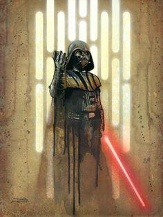 Darth Vader /by Brian Rood #StarWars #art