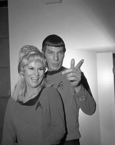 Grace Lee Whitney & Leonard Nimoy, from the early days of Star Trek; RIP