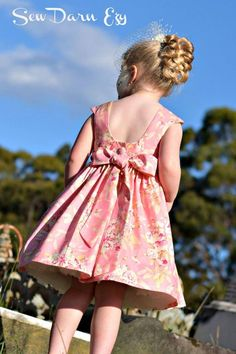 Tea Party Dress Pattern Sizes: 0 - 8 Skill Level: Intermediate Format Options (choose at top before adding to cart Little Girl Dresses, Girls Dresses, Flower Girl Dresses, Tadah Patterns, Dress Sewing Patterns, Fabric Sewing, Skirt Patterns, Blouse Patterns, Baby Sewing