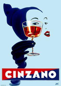 "merde-petit-maitre: "" Commercial (Cinzano Vintage Poster 1950's, via bleistift-und-radiergummi) """