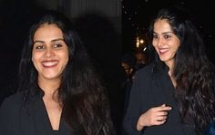 Genelia attended Christmas Mass wearing black separates with flat Mary Janes. She completed the look with red lip and partially pinned back hair. Though I am not a fan of a velvet skirt, but here all I can see is a beautiful, radiant and happy new mum and that shines more than any overpriced dress.