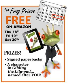 """#TheFrogPrince is FREE 7/18-7/20 in the Kindle store! http://ellelothlorien.com/frog-prince/ In this captivating Amazon bestseller, sex researcher Leigh Fromm questions her scientific theories when she's irresistibly drawn to the pheromones of an (almost) Austrian prince. A funny, sexy novel from a writer who knows how to """"keep her readers happy"""" (USA Today's Happy Ever After). Repin this post before 7/21 to enter a FREE random drawing for 1 of 5 signed paperback copies of Frog Prince…"""
