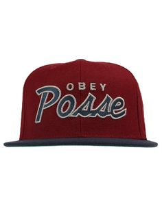 Obey Clothing Posse Snapback Hat - Maroon Navy  25.50  obey 690e38bd9697