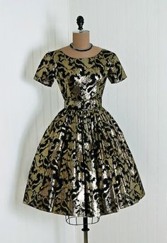 1950s dress Suzy Perette; again the style we wore that was so popular. don't recall having that much glitter