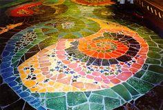 floor mosaics | floor mosaic with a column gallery floor las vegas nevada floor mosaic ...