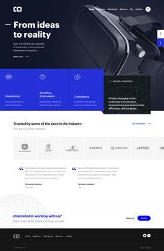 Dribbble - joonasy-vr-company-landing-page-full.jpg by Joonas Ylitalo Flat Web Design, Design Ios, Minimal Web Design, Interface Design, Website Layout, Web Layout, Layout Design, Design Thinking, Maquette Site Web