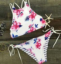 Cupshe Fallin' For You Floral Bikini Beach Fashion, Cute Bikini, Sexy Bikini