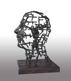 Magamba Zárva II. Locked in Myself II.  2013 vas,fa/ iron,wood  Molnár Levente Szobrász/Sculptor http://www.molnarlevente.com