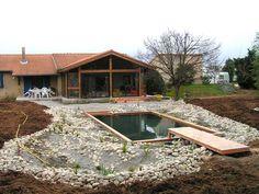 Mise en place de la piscine naturelle