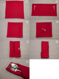 #red wedding napkin folding ... For a Reception Guide ... https://itunes.apple.com/us/app/the-gold-wedding-planner/id498112599?ls=1=8 ... plus how to organise your entire wedding ... The Gold Wedding Planner iPhone App ♥