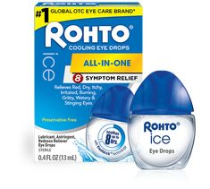 Rohto Ice All-in-one, Multi-Symptom Relief Cooling Eye Drops, Ounce, 3 Count Whiten Eyes, Cannabis, Dry Eye Drops, Routine, Watery Eyes, Vision Eye, Natural Eyes, Cool Eyes, All In One